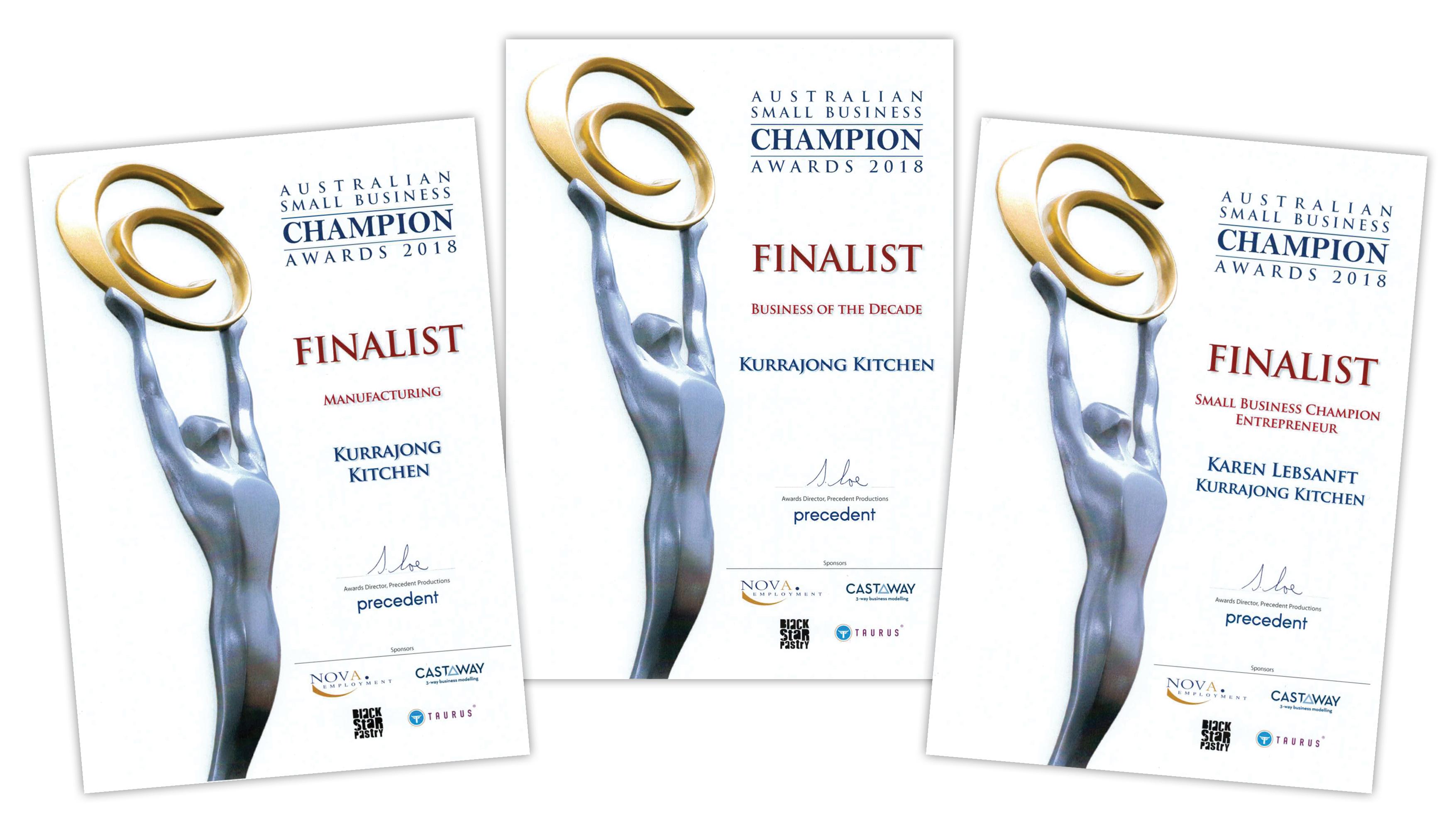 3 Finalist Awards