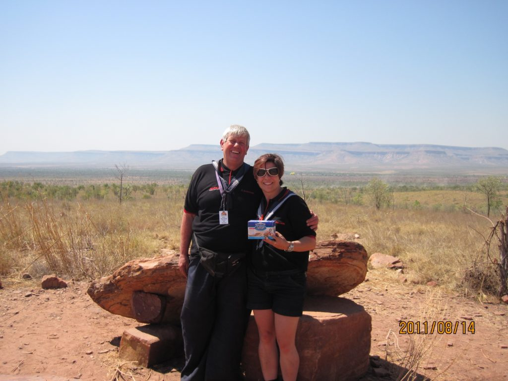 The 2011 team stopping for a snack, at the Pentecoste River Valley, along Gibb River Road.